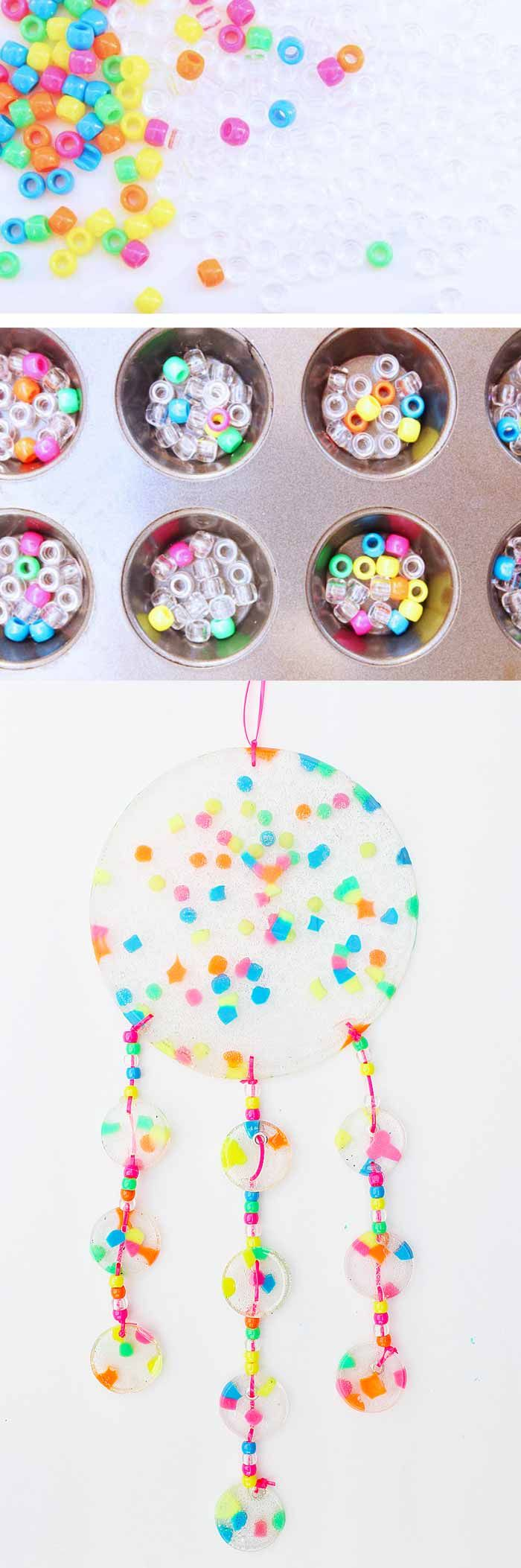 Make Dreamy Suncatchers for Kids - These are beautiful!