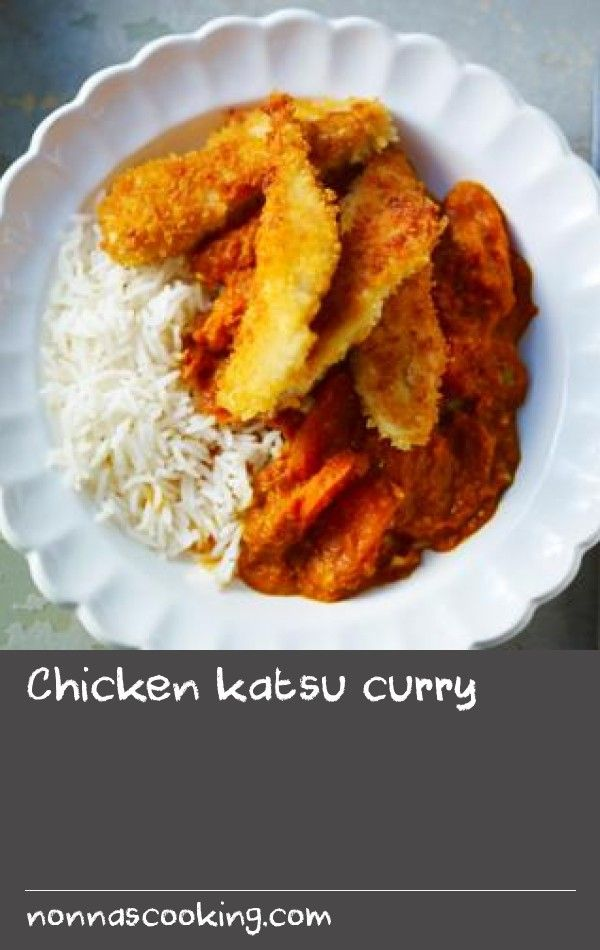 Chicken katsu curry |      A Japanese dish of crisp fried chicken in a rich curry sauce. Simon Rimmer's version has less fat but all the flavour of the original.