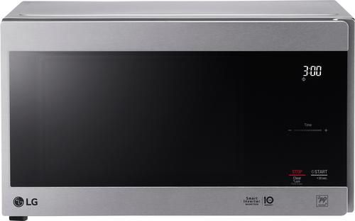 LG - NeoChef 0.9 Cu. Ft. Compact Microwave - Stainless steel - Larger Front