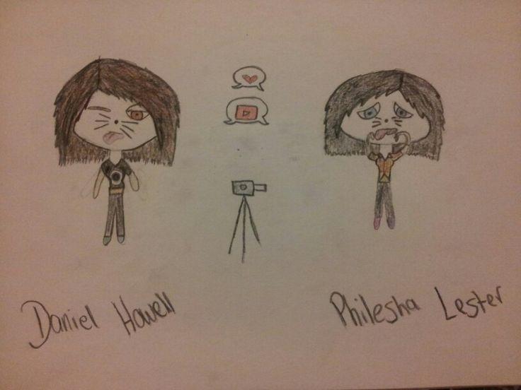 Ive drawn Dan and Phil genderswaped: Daniel & Philesha