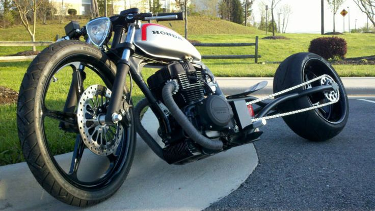 loosespokz Honda  BAR HOPPER BOBBER chopper Custom BIKE w/ Harley WHEELS