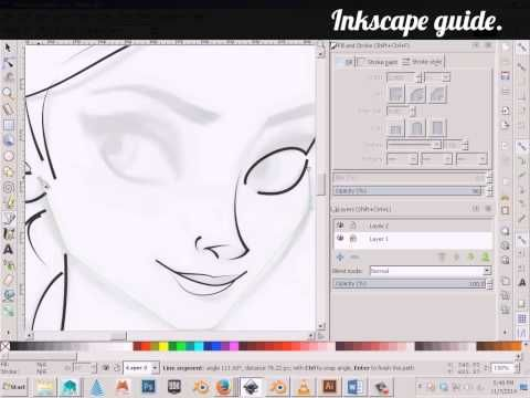 ▶ Inkscape Guide - Inking a Drawing - YouTube