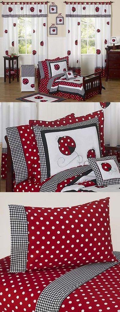 Bedding Sets 66731: Jojo Designs Red And White Polka Dot Lady Bug Girl Toddler Kid Bedding Sheet Set -> BUY IT NOW ONLY: $94.99 on eBay!