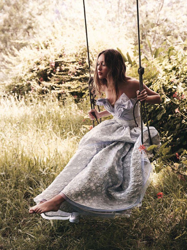 Star Bright: Alycia Debnam-Carey by Nicole Bentley for Vogue Australia May 2016 - MATICEVSKI Spring 2016