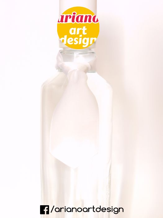 Krawat na butelkę wiązany, wódkę 5 szt zawieszki weselne PL