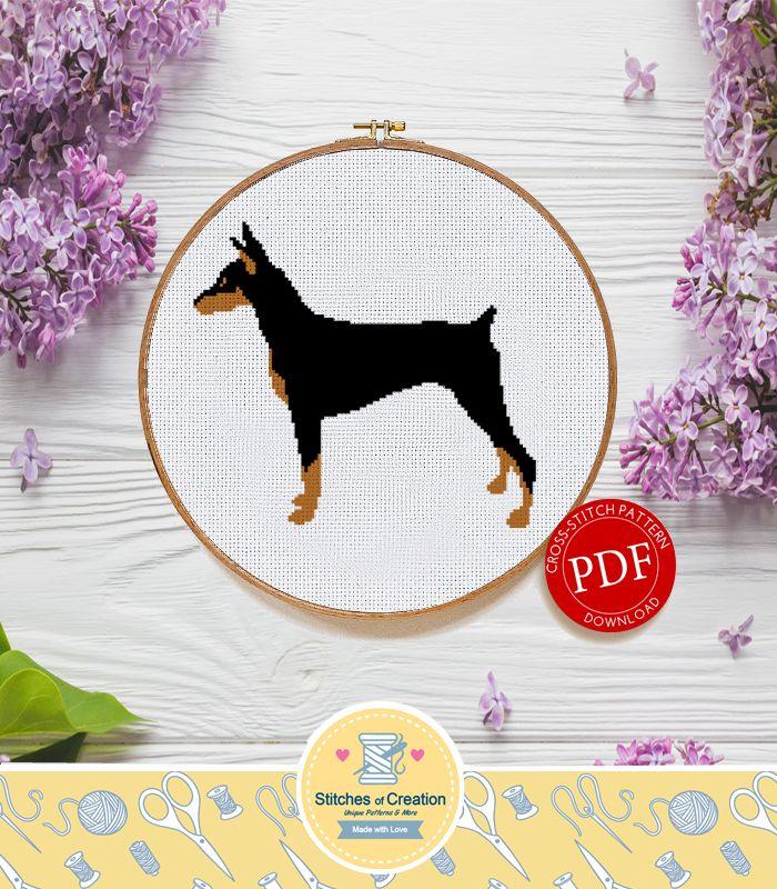 Doberman Pinscher Digital Download Dog Breed Cross Stitch