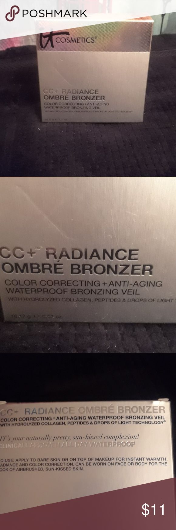 Waterproof Bronzing Veil Cc+radiance ombre bronzer. Color correcting + anti-aging wayerproof bronzing veil with hydrolyzed collagen, peptides & dfops oc light technology. 16.17 g  0.57 oz. Clinicallg proven all day waterproof. it cosmetics Makeup Bronzer