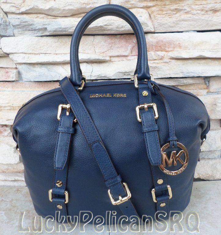 Michael kors handbags navy blue