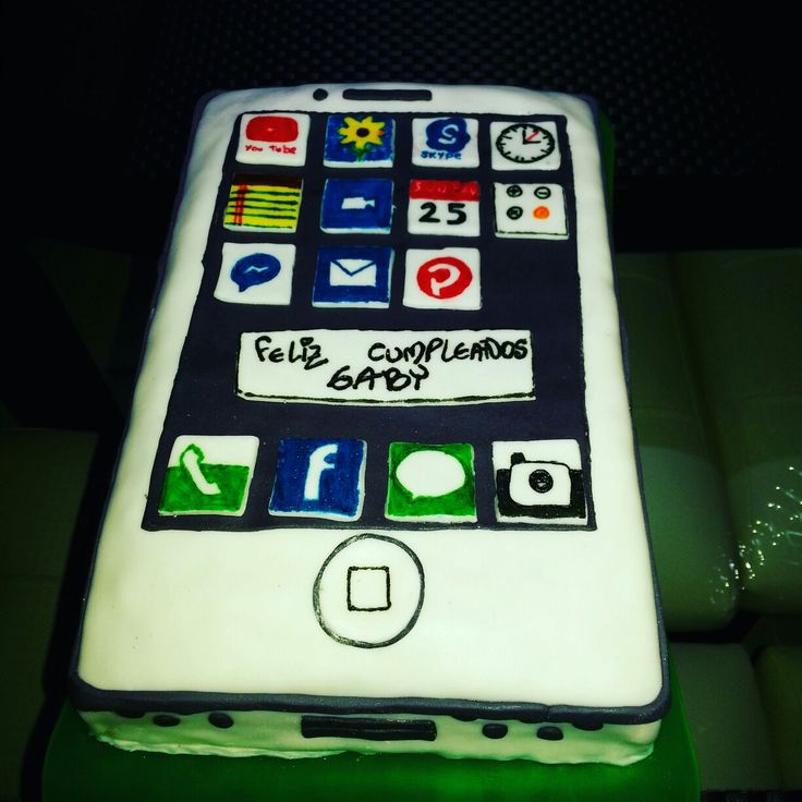 Cellphone cake