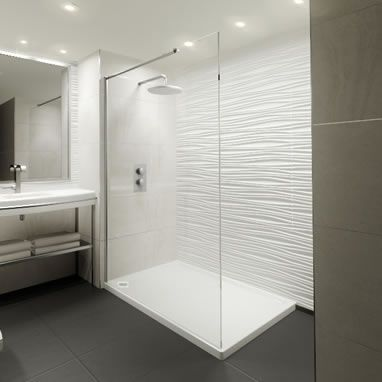 Elite 1200mm Walk In Shower Screen & Shower Tray | 8mm Glass