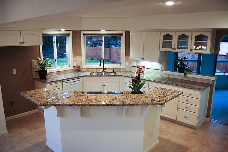island cooktop island and sink remodel ideas