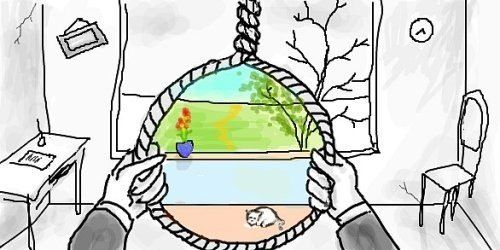 This pic makes me feel sad...but it's the perfect way to understand depression.