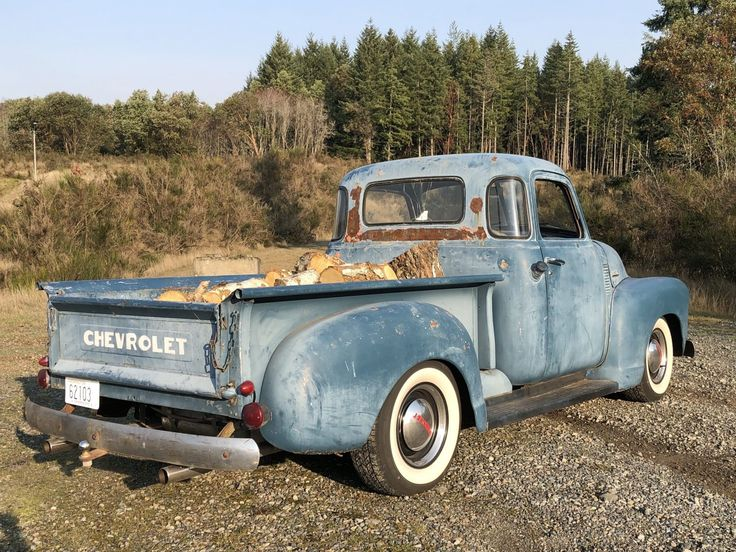 Hauling firewood in my '53 Chevy