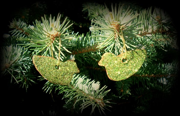 diy cinnamon ornaments, birds