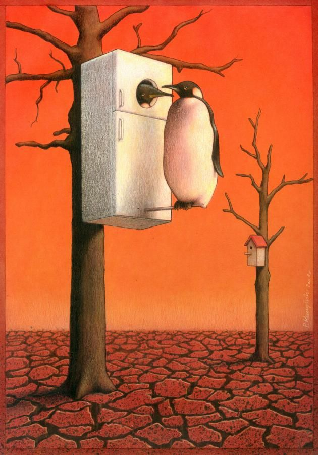artwork satire cartoonist pawel kuczynski polish