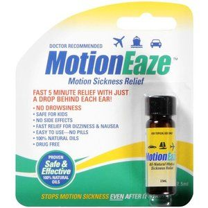 Essential oil you put behind your ear. For motion sickness, but really helped my nausea. At Walmart and cheap!