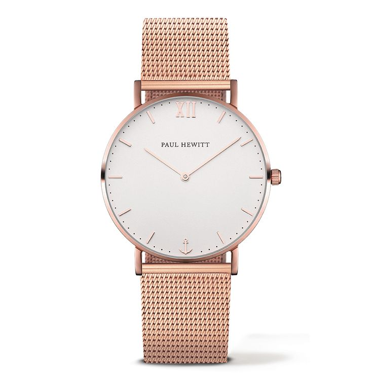 Uhr Sailor Line White Sand Roségold Metallband Gold - PAUL HEWITT