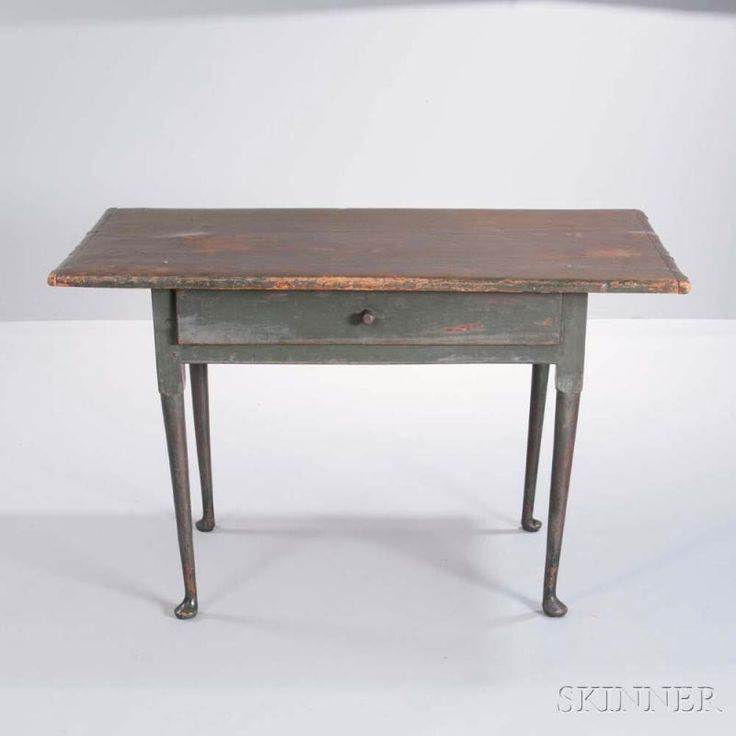 Green-painted Tavern Table, New England, early 18th century