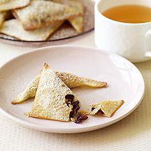 Crispy Chocolate-Cranberry Wontons