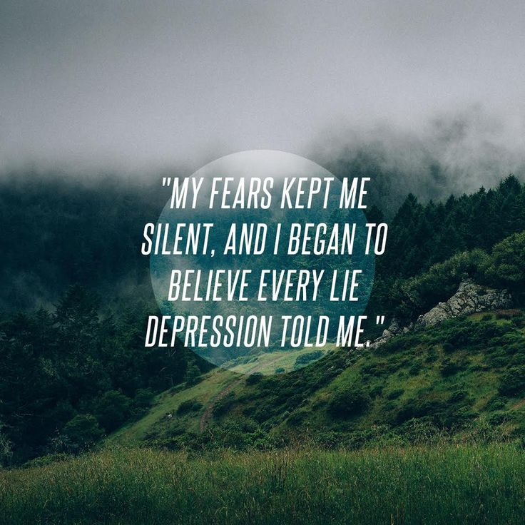 """My fears kept me silent, and I began to believe every lie depression told me."" - Julianne Elouadih:"