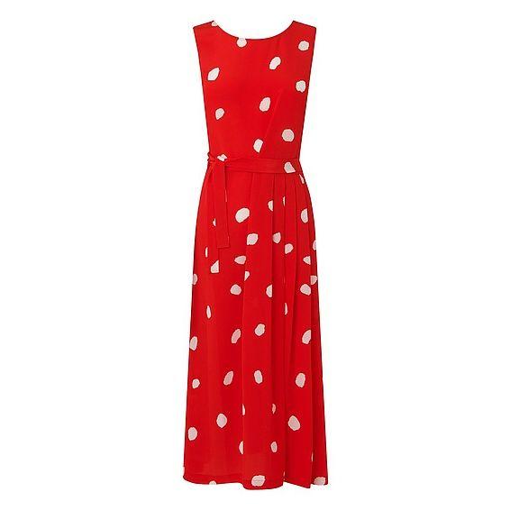 Penny Red Silk Dress