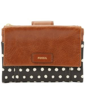 Fossil Ellis Multifunction Leather Wallet - Dot