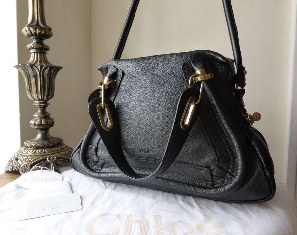 Chloe Paraty Medium in Black Calfskin \u0026gt; http://www.npnbags.co.uk ...