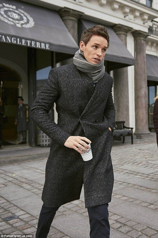 Dapper dude: Eddie Redmayne stepped out looking smart as he shopped in Copenhagan on Friday