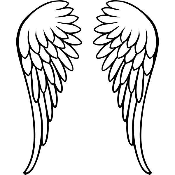 malvorlagen 195 engel in 2020  flügel zeichnung diy