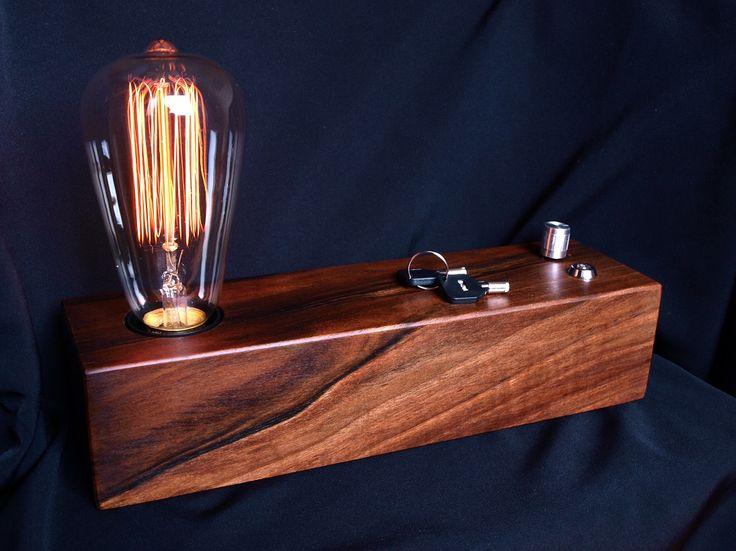 Edison lamp Vintage lamp Christmas gift Industrial lamp Wood lamp Steampunk lamp…