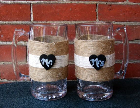 Wedding Toasting Glasses for  Mr and Mrs / by CarolesWeddingWhimsy