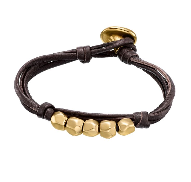 Multi-strap leather bracelet with gold-plated dragonfly charms. Hand-crafted in Spain.
