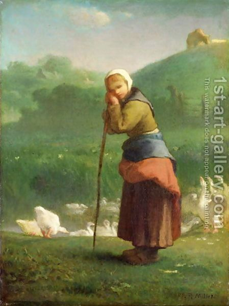 The Goose Girl at Gruchy, 1854-1856