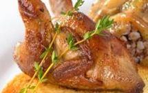 Recettes de caille au four, rôtie, farcie ou en sauce.