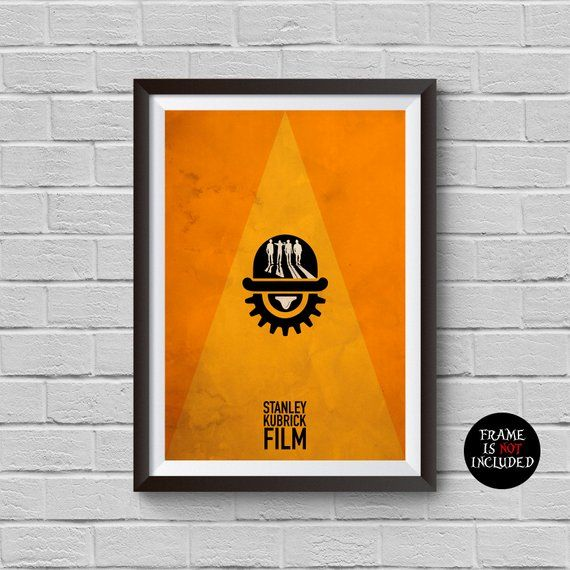 A Clockwork Orange Minimalist Poster Stanley Kubrick Alternative