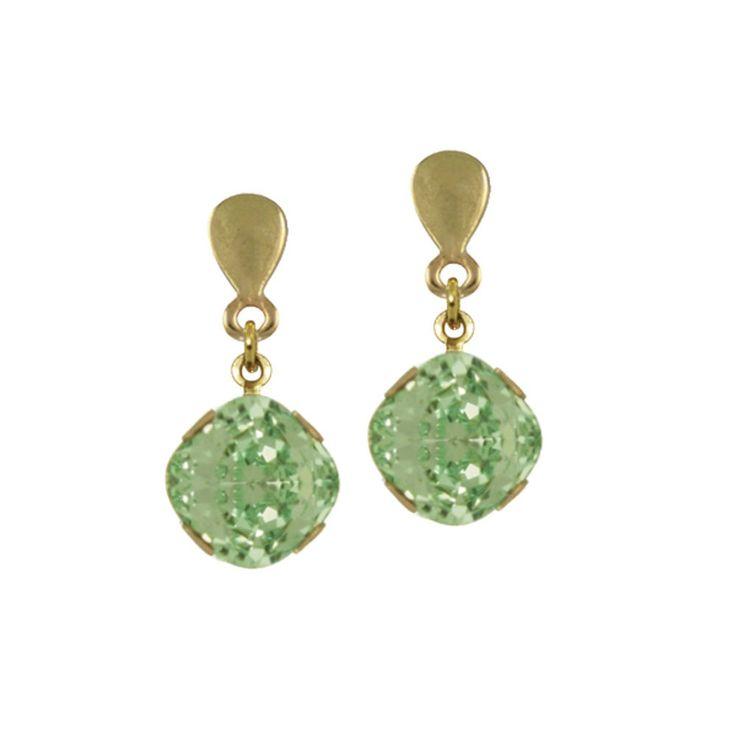 Romanza White Shell Pearl and Emerald Green Swarovski Crystal Necklace CNXOY1