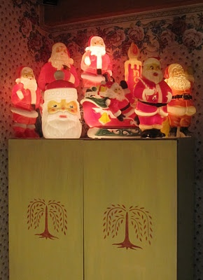 Vintage Santa blow molds