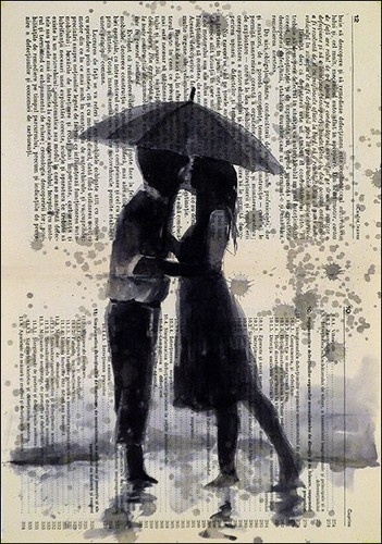 The Kiss- Ink Drawing