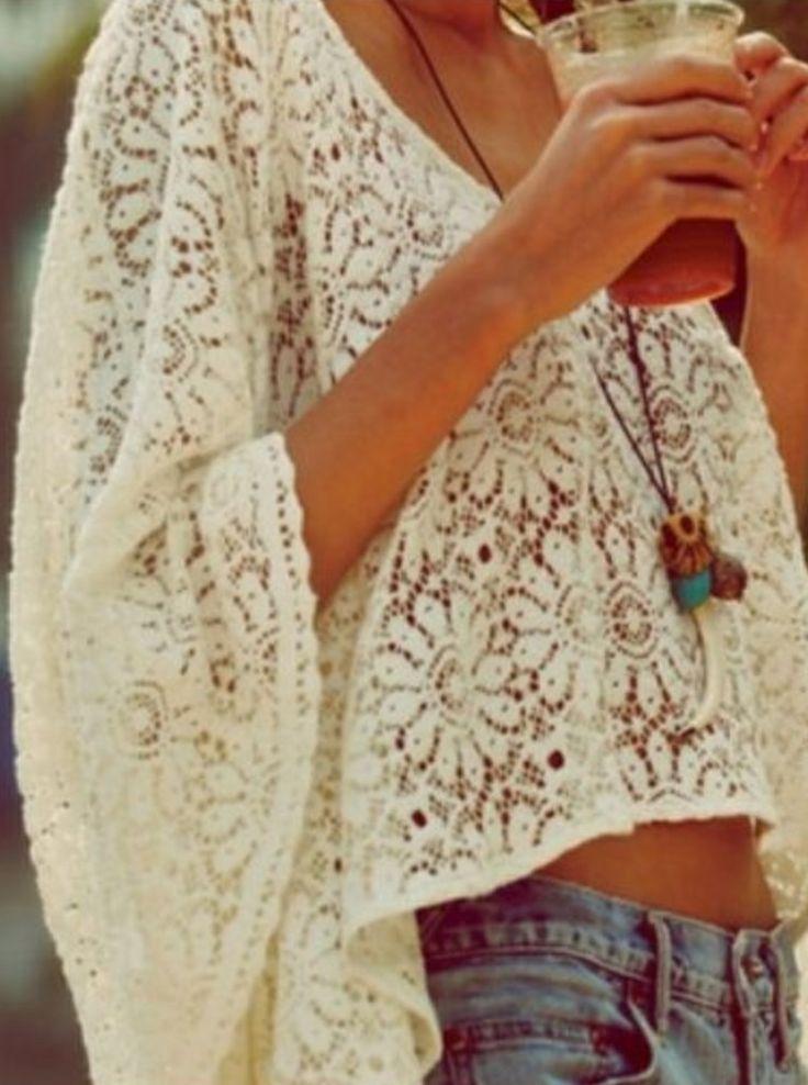 boho: loose, romantic, lace