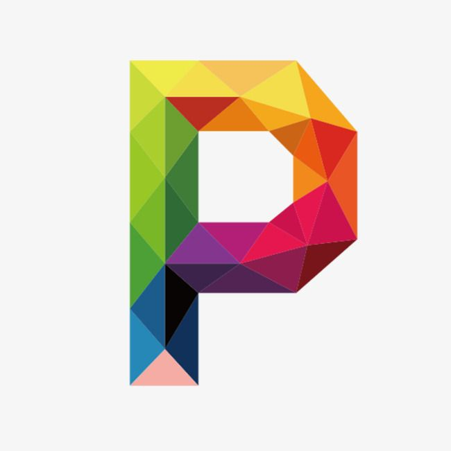 Colorful Letters P Letter Colorful P Png Transparent Clipart Image And Psd File For Free Download Monogram Logo Letters Alphabet Design Polygon Art