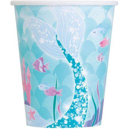 Tazze del Partito Mermaid viola e blu / viola tazze del
