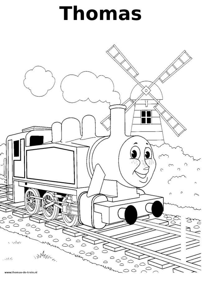 Thomas-de-trein kleurplaat - Thomas train coloring