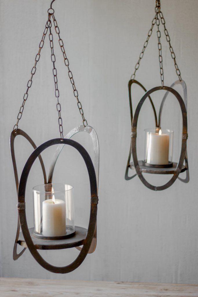 Kalalou Hanging Candle Holders Set Of
