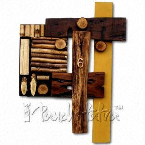 Designer Wall Clock made using Wooden Pieces