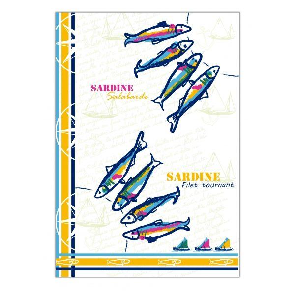 Torchon motif Sardines