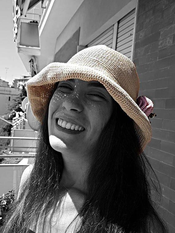 Guarda questo articolo nel mio negozio Etsy https://www.etsy.com/it/listing/527167598/cotton-sun-hat-santorini-crocheted-light