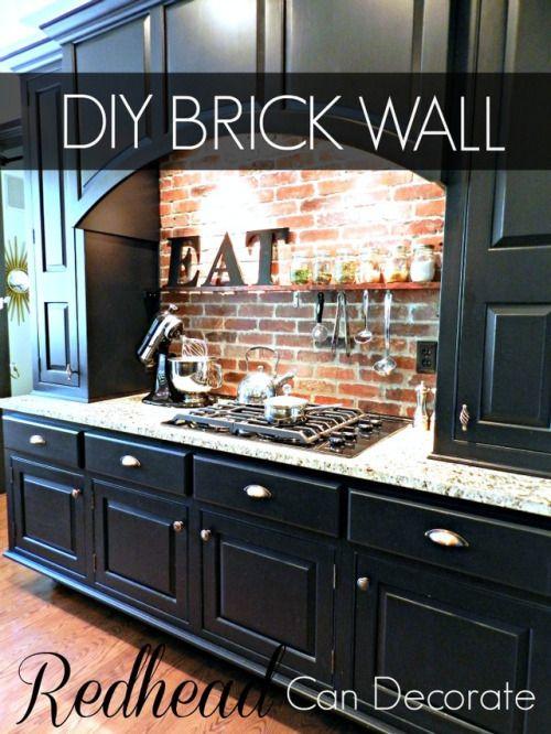 Affiché sur Entreprise de Rénovation: DIY Brick Backsplash -...