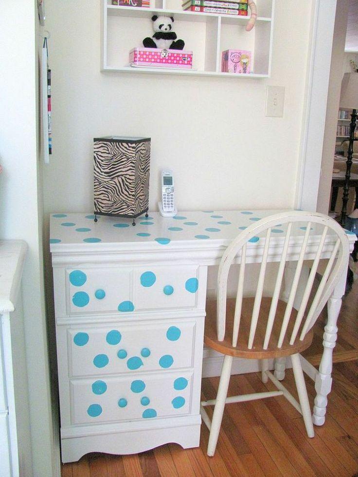 Girl's White Desk Redo :: Hometalk
