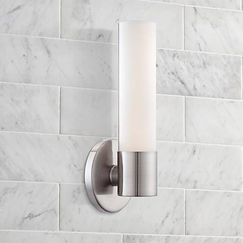 Best Bathroom Sconces Images On Pinterest Bathroom Sconces - Bathroom wall sconces brushed nickel for bathroom decor ideas