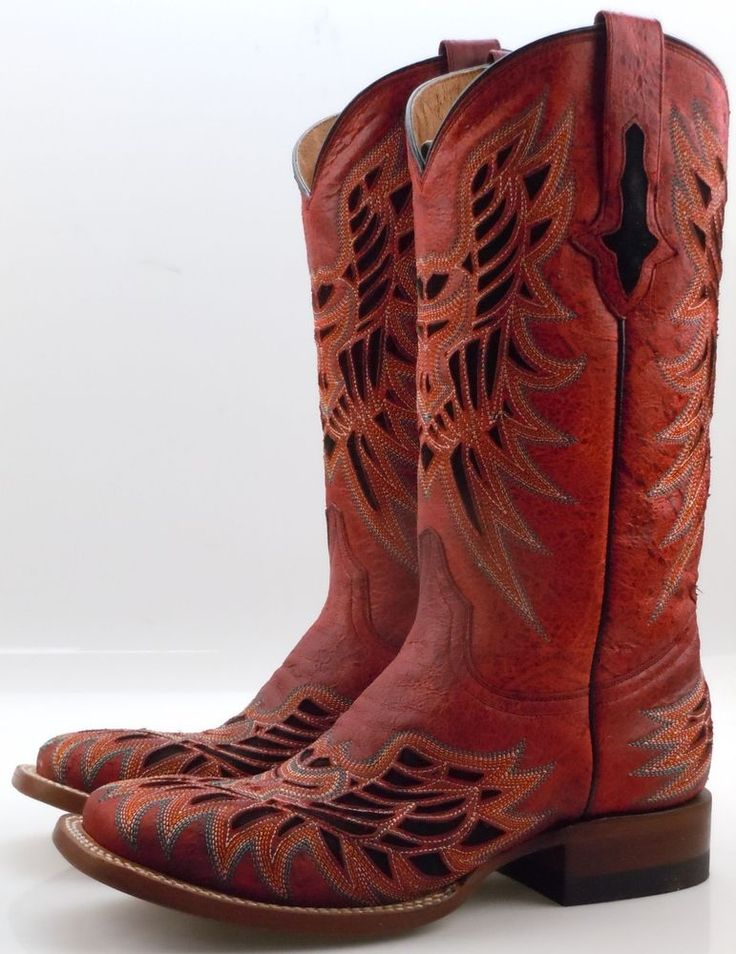 Brilliant Vintage Womens Ariat RTS Red Cowboy Boots Size By VintageMaryEllen